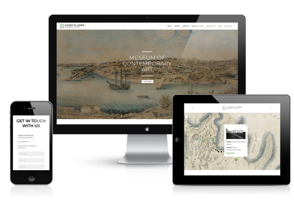 Casey & Lowe Archeology & Heritage website design Development wordpress graphic responsive sydney surry hills fresco creative