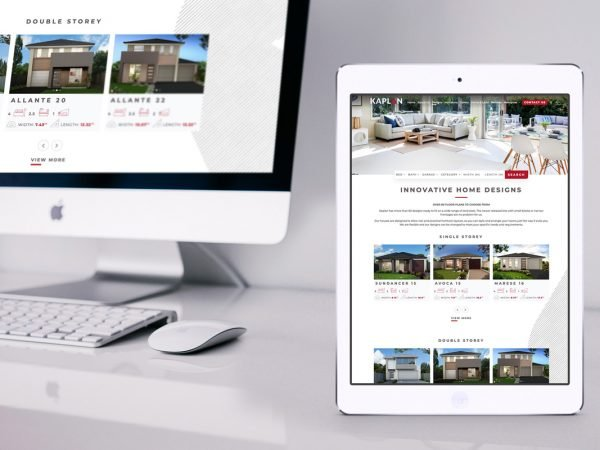Kaplan Homes Website Refresh iPad