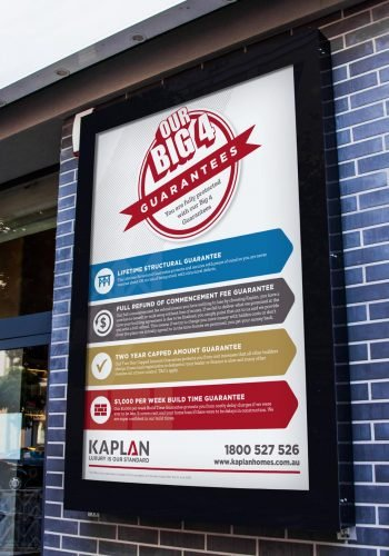 Kaplan Homes Big 4 Guarantees Poster
