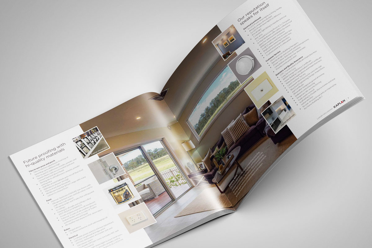 Kaplan Homes Inclusions Brochure