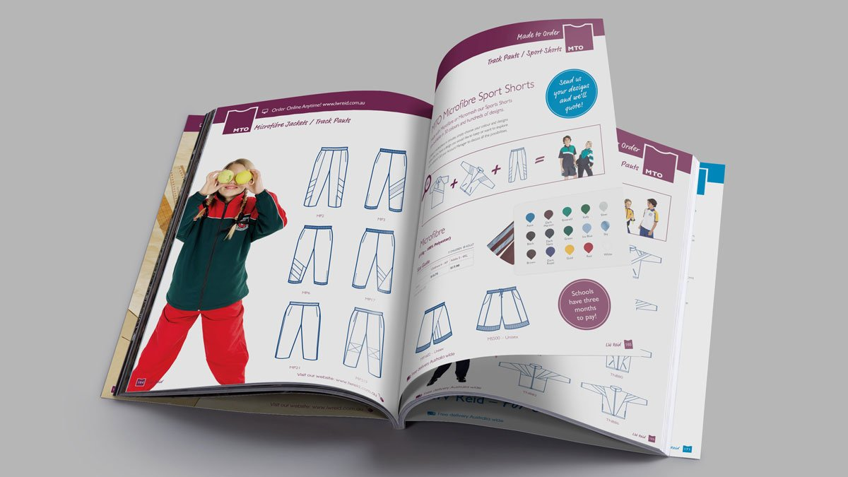 LW Reid School Uniform Catalogue Design