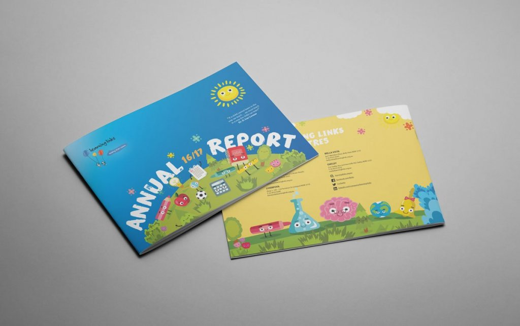 Learning Links Annual Report Design
