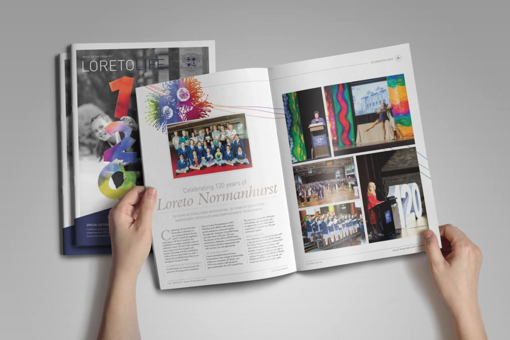 Loreto Life Special Edition School Magazine Design Yearbook Normanhurst Colour-coding Graphic Design Fresco Creative - brochure design Sydney