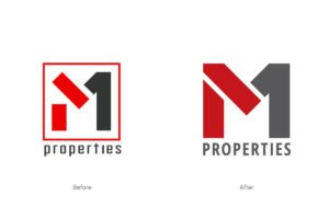M1 Properties Logo Before-After
