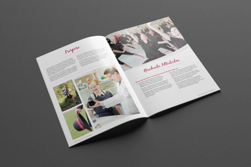 Mount St Benedict College Learning Framework Report Design - brochure design Sydney