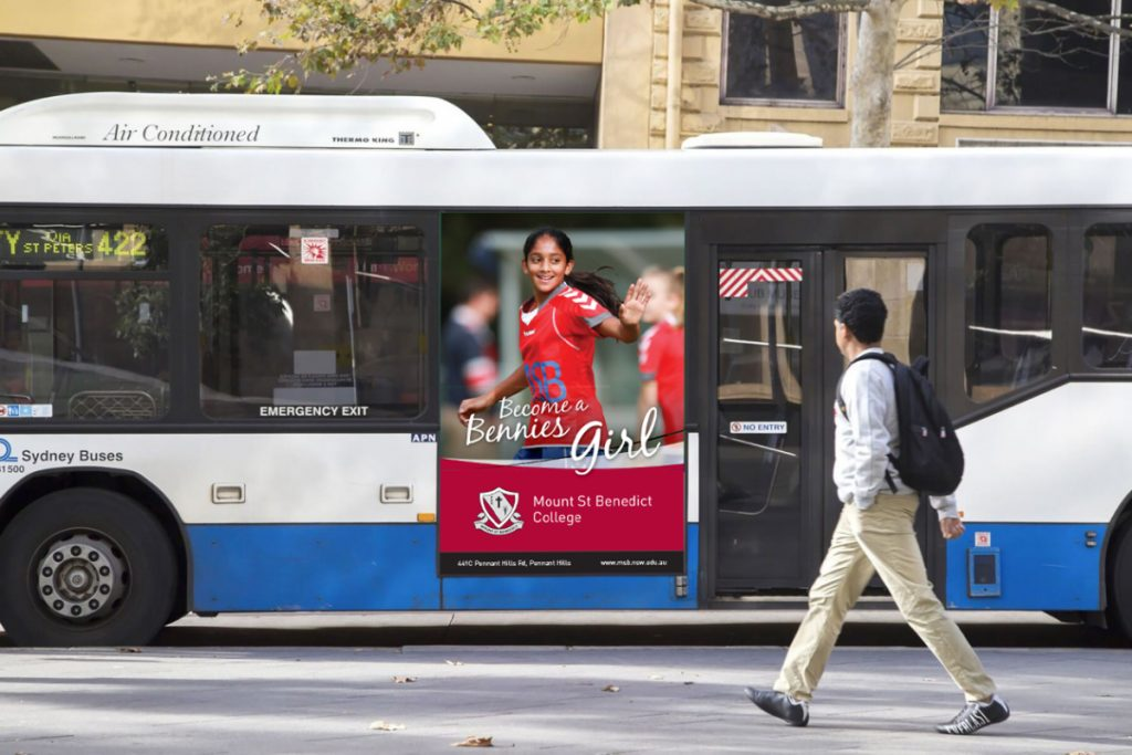 Mount St Benedict College Bus Advertising