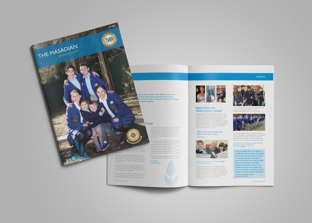 Masada School Design Yearbook Normanhurst Colour-coding Graphic Design Fresco Creative