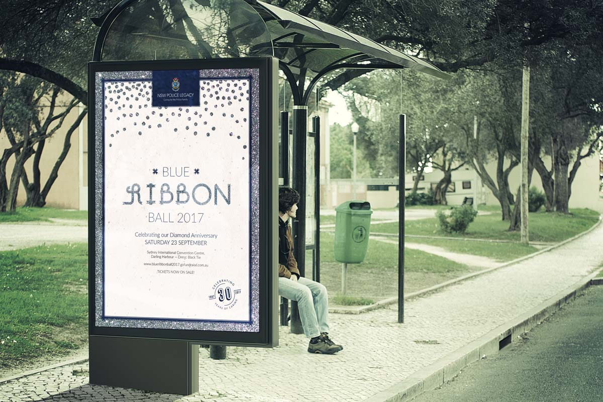 NSW Police Legacy Blue Ribbon Ball – Bus Stop poster