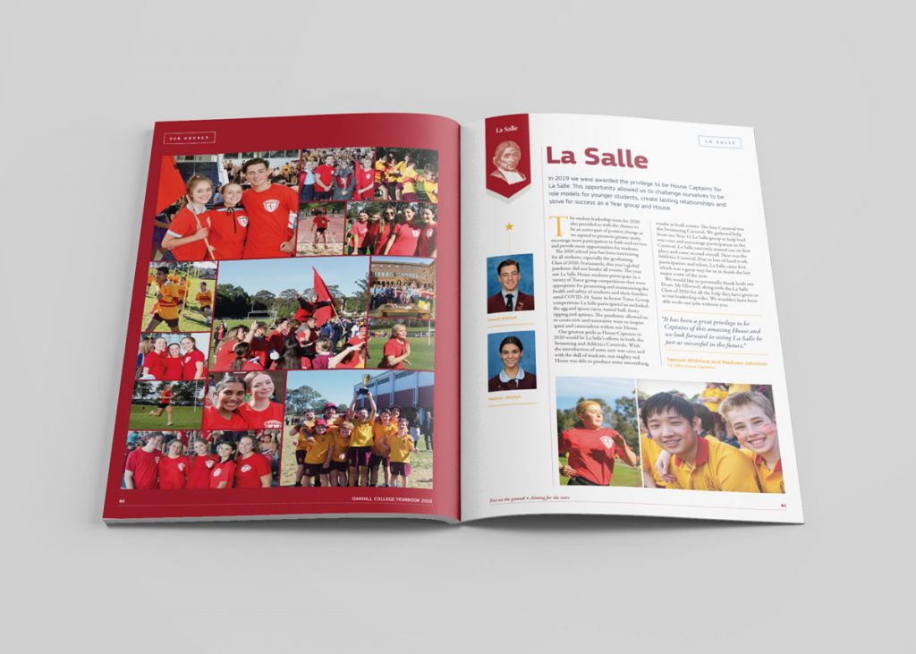 Oakhill College School Yearbook Design 2020