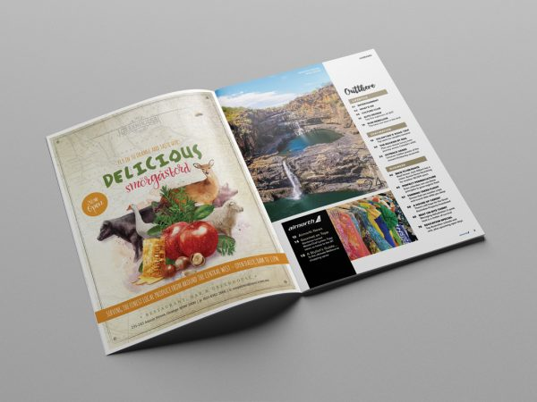 """Fresco Creative The Greenhouse of Orange Advertising in Rex Magazine """"Out There"""""""