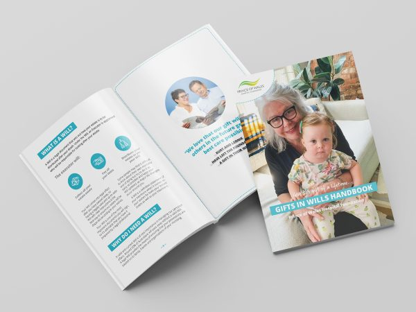 Prince of Wales Hospital Foundation Gifts in Wills Brochure Design Graphic Fundraising Bequest Booklet
