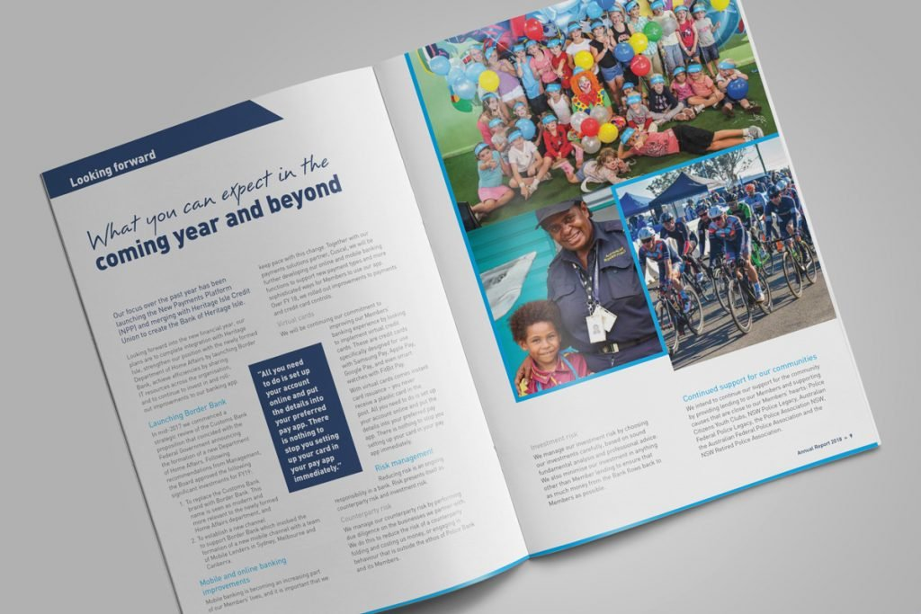 Police Bank Annual Report Design