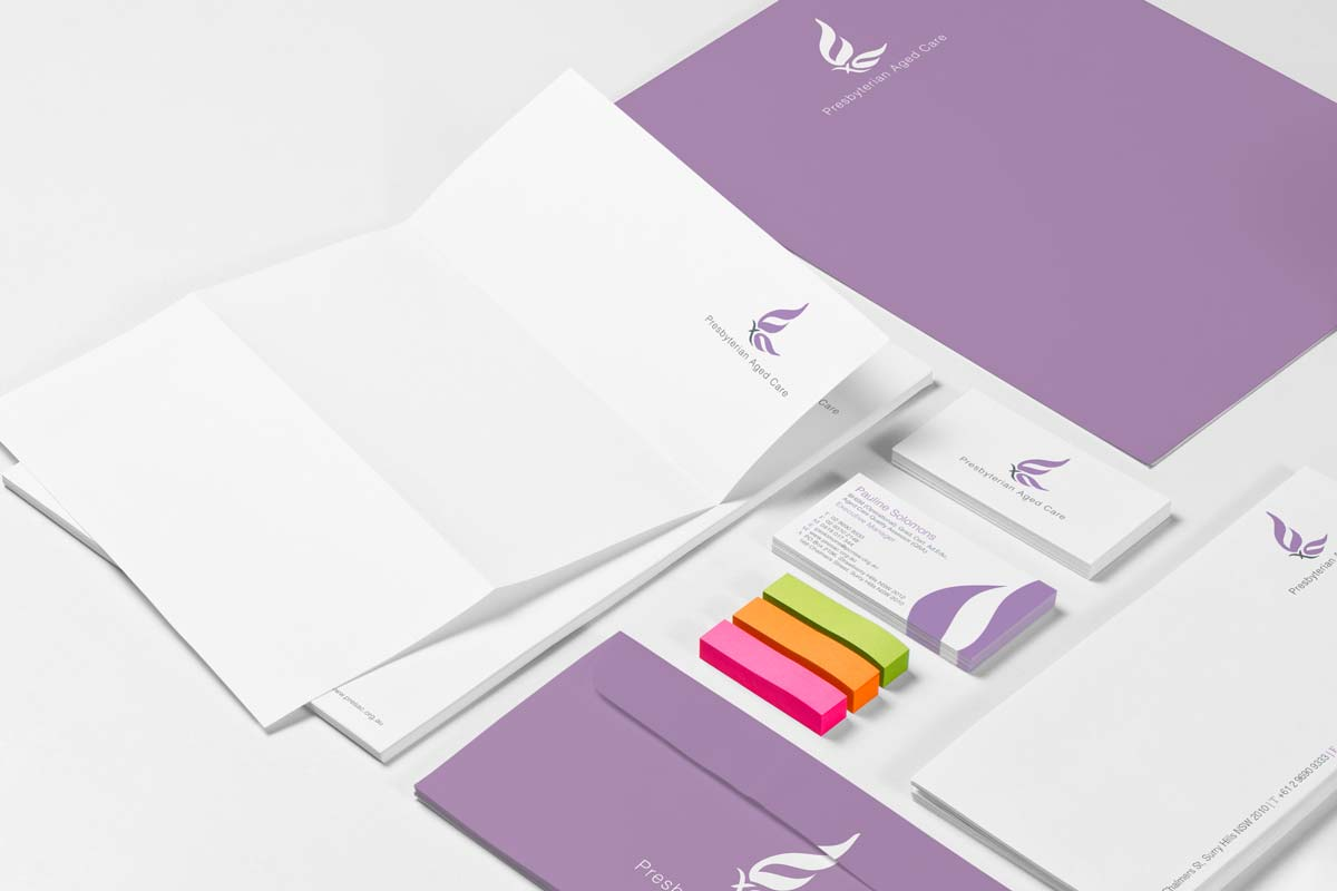 Presbyterian Aged Care stationary