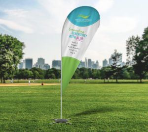 Prince of Wales Hospital Foundation Tear Drop Banner – Fresco Creative