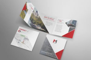 M1 Properties Website Square Tri Fold Brochure
