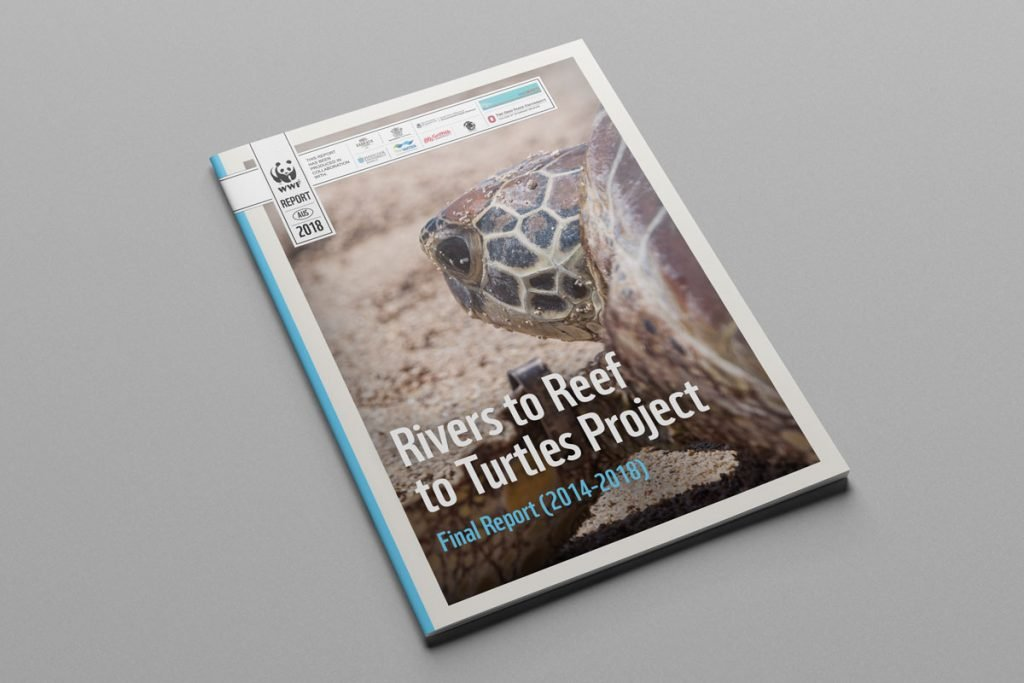 WWF Australia – Rivers to Reef to Turtles 2014-2018 Scientific Academic Results Report Reporting QLD Government Design Graphic Publication Printing Print Research Fresco Creative Sydney Surry Hills